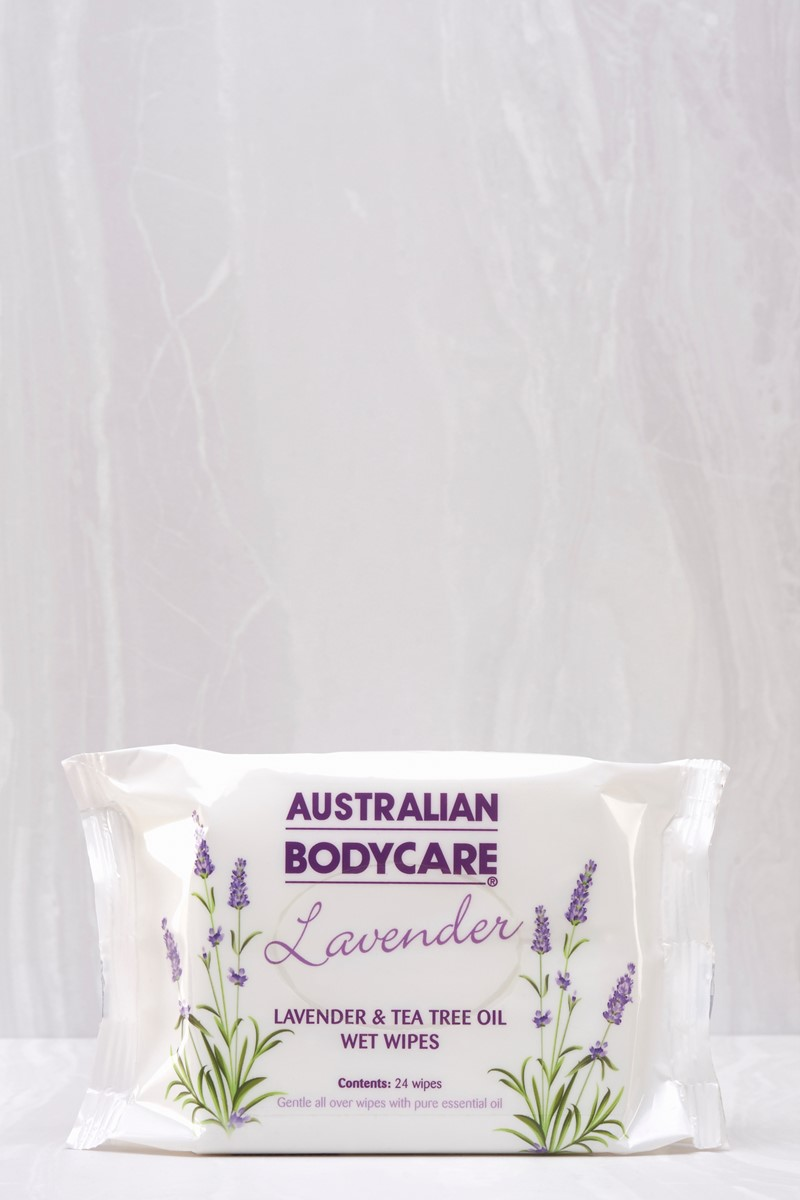 Hygienic Lavender Wet Wipes Handy 24 pack